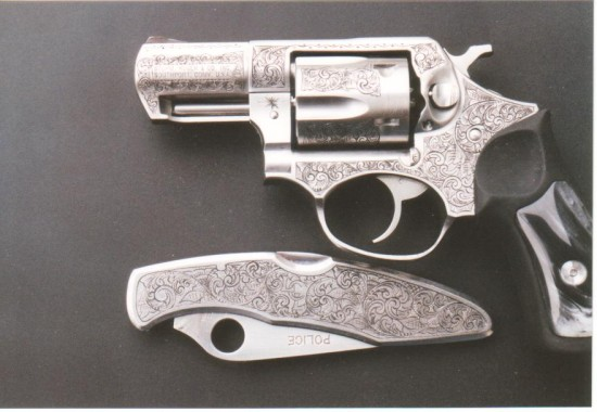 Ruger SP 101 and Matching Spiderco Knife