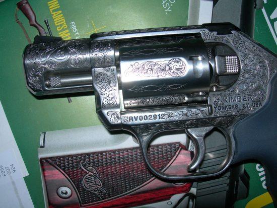 Gun Engraving - Kimber Revolver